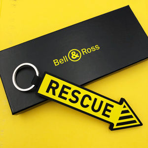 BELL & ROSS Rescue Arrow Keychain in Bright Yellow